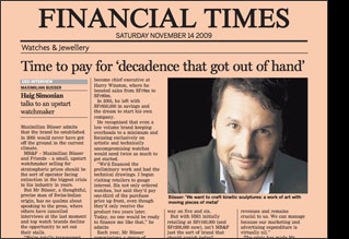MB&F in the Financial Times
