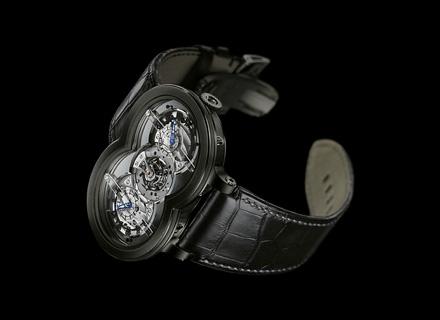 10.T41WBL.O<br />Black PVD coated 18k white gold<br />Limited edition of 10 pieces