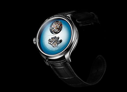 ENDEAVOUR CYLINDRICAL TOURBILLON<br>H.MOSER x MB&F<br>Ice Blue