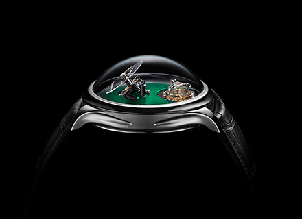 ENDEAVOUR CYLINDRICAL TOURBILLON<br>H.MOSER x MB&F<br>Cosmic Green