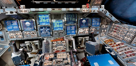 Space Shuttle Glass Cockpit - Pics about space